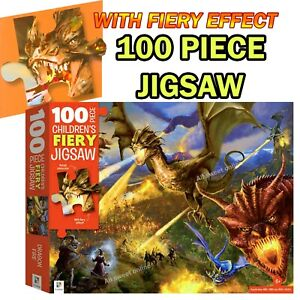 100 Piece Hinkler Jigsaw Dragons Puzzle Kids Junior Puzzle Games