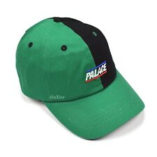 e2935152790 NWT Palace Skateboards Black Green Split Logo Basically A Hat Cap FW18  AUTHENTIC