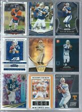 New listing 9 CARD LOT OF PEYTON MANNING W/INSERT NO DUPES BRONCOS-COLTS-VOLS FBA5