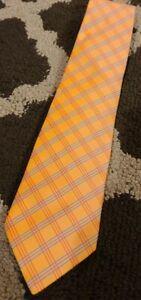 HERMES TIE Orange/Blue/Rouge Heavy Silk Necktie New w/tags