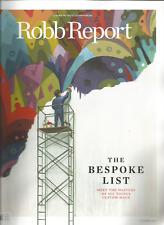 ROBB REPORT MAGAZINE OCTOBER 2017, THE BESPOKE LIST