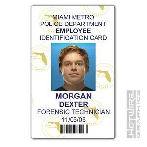 Plastic ID Card (TV Series Prop) - Dexter Morgan - DEXTER Forensics Police PVC