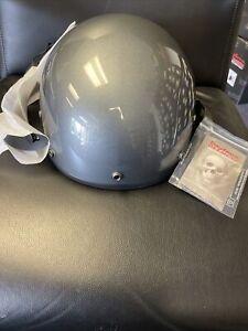 Daytona Skull Cap Half Helmet Slim Line DOT 3XL Gun Metal Open Box