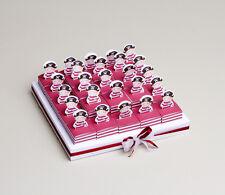 Kit plateau avec 25 boites dragées Jack pirate+ruban Baptême mariage communion