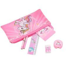 3b3de5ed039 UNICORN Pink Girls Stationery Set Pencil Case Bag Ruler Eraser Mini Notepad  Yulu
