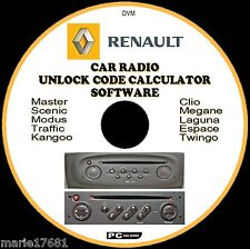 RENAULT CAR STEREO/RADIO CODE RECOVER UNLOCK DECODE CD MEGANE TRAFFIC KANGOO ETC