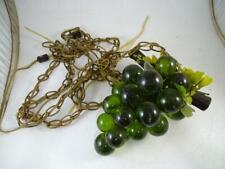 Vintage Mid Century Art Modern Glass Acrylic Hanging Light Lamp Grapes Grape Old