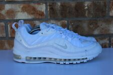 brand new 266da 884ef Men s Nike Air Max 98 Running Shoes Triple White Pure Platinum Sz 9.5  640744 106