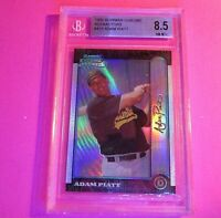 1999 Bowman Chrome REFRACTOR Rookie Adam Piatt #413 BGS 8.5 NM-MT+ A's
