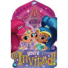 Shimmer and Shine Invitations ~ Girls Birthday Decorations Party Favor Supplies