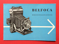 Bedienungsanleitung VEB Kamera und Kinowerke 1960 BELFOCA Kamera  ( F14487