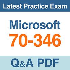 Microsoft Practice Test 70-346 Exam Q&A PDF