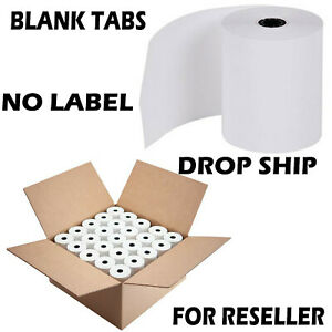 3 1/8 x 230 thermal paper 50 Rolls no-branding for Reselling Premium BPA Free