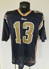 Men s Size M Nike St. Louis Rams Kurt Warner  13 Jersey 7d95bc1fc