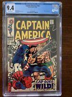 Captain America #106 CGC 9.4 (Marvel 1968)  Mao Tse-Tung cameo.