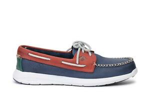 Sperry Top Sider Mens Shoes Sojourn Leather Navy Red STS15132