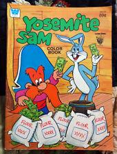 Vintage 1980 Warner Bros. Looney Tune YOSEMITE SAM coloring book hardly used