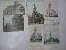 Lot 6 Postcards Post Cards New Jersey City Churches Newark Red Bank Asbury Park