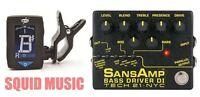 Tech 21 NYC SansAmp Bass Driver DI V2 Pre-amp Pedal Direct Box ( GUITAR TUNER )