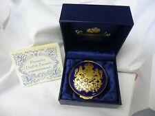 Crummles Handpainted English Enamel Box Le (62 of 500) & Coa Cobalt/Gold Euc