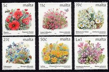 Malta 2001 Flowers Definitives Addition SG 1138 41,44, 47, 49, 50 Unmounted Mint