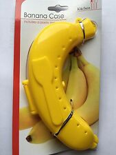 BANANA CASE LUNCH BOX WITH FORK Guard Protector Case Fruit Plastic ProtectionNEW