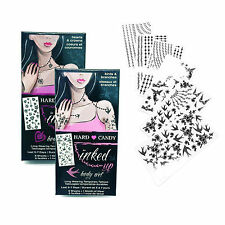Hard Candy Inked Up Body Art Long Wearing Temporary Tattoos Birds Hearts LOT 2