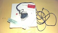 MISS SIXTY STAINLESS STEEL DENIM PENDANT WITH FABRIC NECKLACE