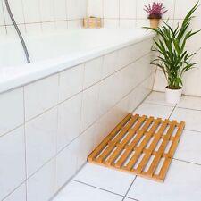 Wooden Slatted Duck Board Bathroom Bath Shower Floor Mat Non Slip Skid Resistant