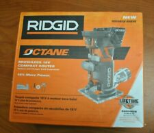 RIDGID R860443B 18-Volt OCTANE Cordless Brushless Compact Router! New!