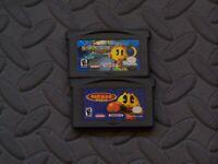 Lot of 2 Nintendo Game Boy Advance GBA Games Ms. Pac-Man Maze  Pac-Man World