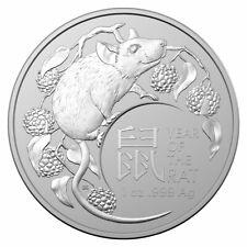 2020 Australia Lunar Year of the Rat 1 oz Silver $1 Coin GEM BU SKU60760