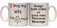 I LOVE MY VARIOUS PERSONALISED MUG & COASTER (R22) 11oz + 15oz GIFT