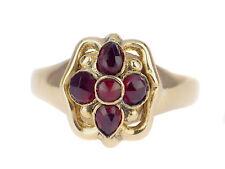 Art Deco Damen 14 K 585 Gelb Gold Böhmischer Granat Ring !