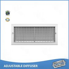 "14""w x 8""h ADJUSTABLE DIFFUSER - Vent Duct Cover - Grille Register - Sidewall"