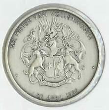 Penning Wilhelmus (e010) zilver kleurig- Pieter van Vollenhoven