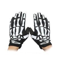 Men Cycling Biker Racing Sports Motorcycle Skeleton Bone Full Finger Gloves kj
