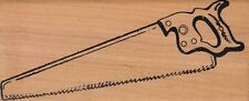 "hand saw dan cherney Wood Mounted Rubber Stamp 1 1/2 x 4""  Free Shipping"
