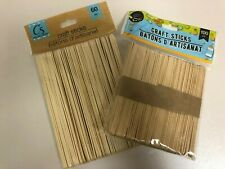 160/100/60 NATURAL/ COLOR  WOODEN POPSICLE STICKS Wood Craft School Art 6