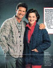 ~ Vintage Tejer patrón para adultos Chaqueta & Baby's Sweet Jersey & Pantalones ~