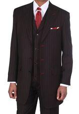 New Men's Boss Suit 3pc Classic Pinstripe Suits Pants Vest Lots Of Colors 5903