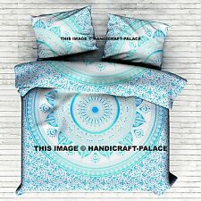 Mandala Indian King Duvet Doona Quilt Cover Cotton Bedding Comforter Pillow Set