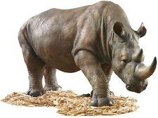 African Plains Wildlife Safari Rhinoceros Garden Home Rhino Sculpture Statue