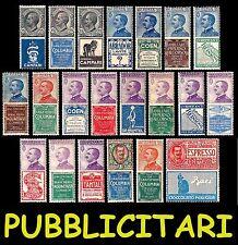 REGNO 1924 1925 Pubblicitari MNH ** Integri LUSSO Pubblicitarie Pubblicitario