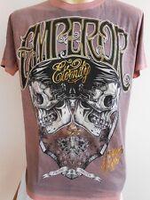 Emperor Eternity Two Face Skull Tattoo Men T shirt L EE15-Face