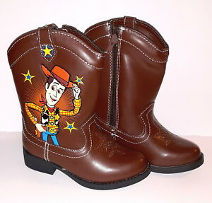 NEW Boys Toddler Disney TOY STORY 4 Woody Western Cowboy Boots 6 8 9 10