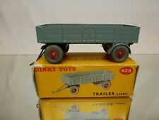 DINKY TOYS 428 TRAILER LARGE - GREY L11.0cm - EXCELLENT CONDITION IN BOX