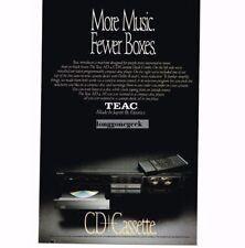 1988 Teac AD-4 CD Cassette Player Stereo Hi-Fi Vtg Print Ad