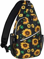Mosiso Outdoor Hiking Cycling Chest Sling Water Repellent Crossbody Shoulder Bag