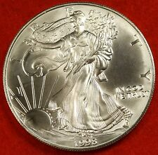 1998 AMERICAN SILVER EAGLE DOLLAR 1 oz .999% BU GREAT COLLECTOR COIN GIFT